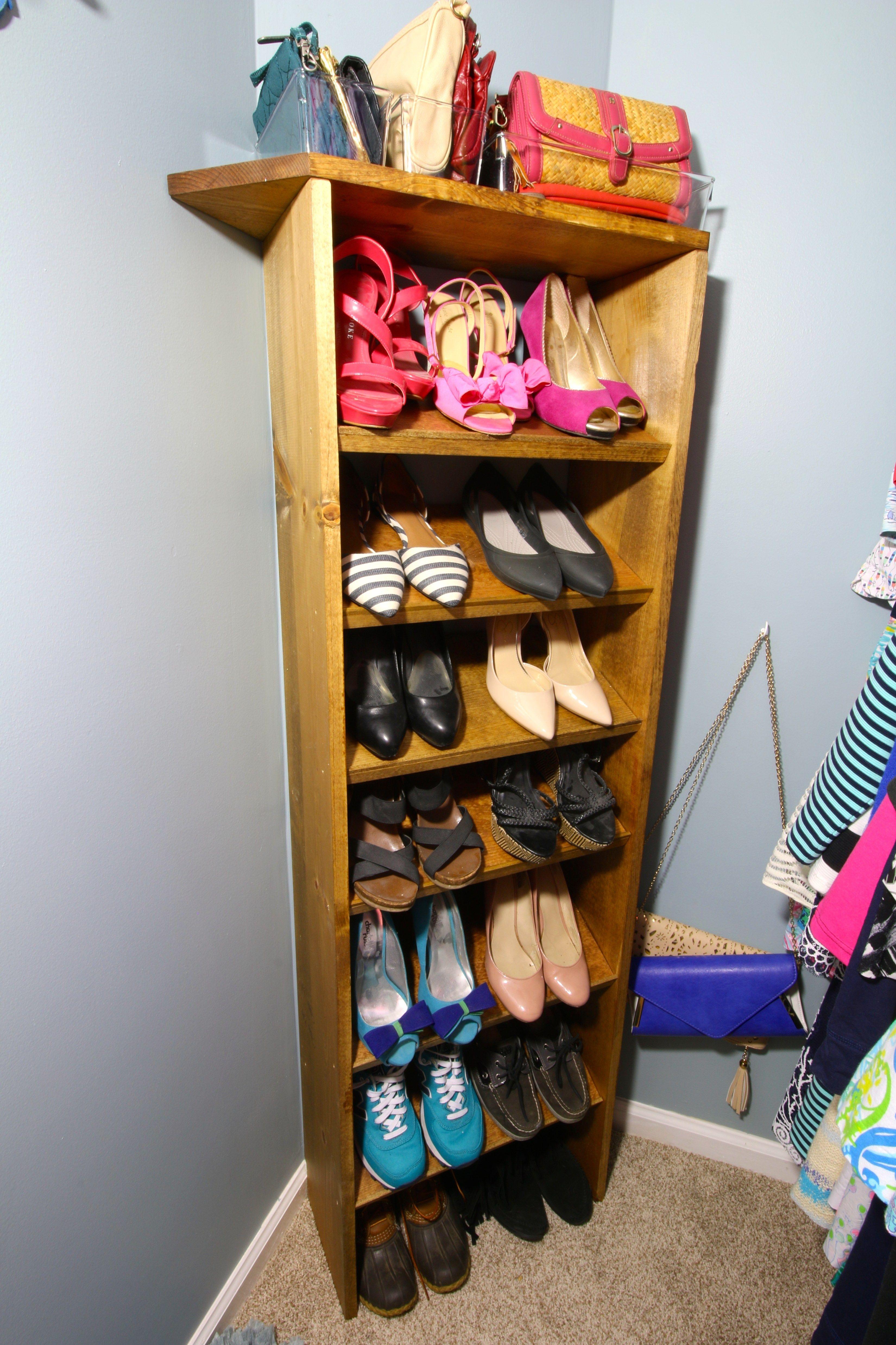 Orc Custom Wooden Shoe Handbag Storage Diy Shoe Rack Diy Storage Handbag Storage