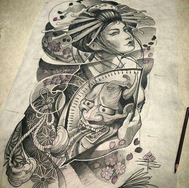 Gueixa draw tattoo drawing 39 s pinterest gueixas - Tattoos geishas japonesas ...