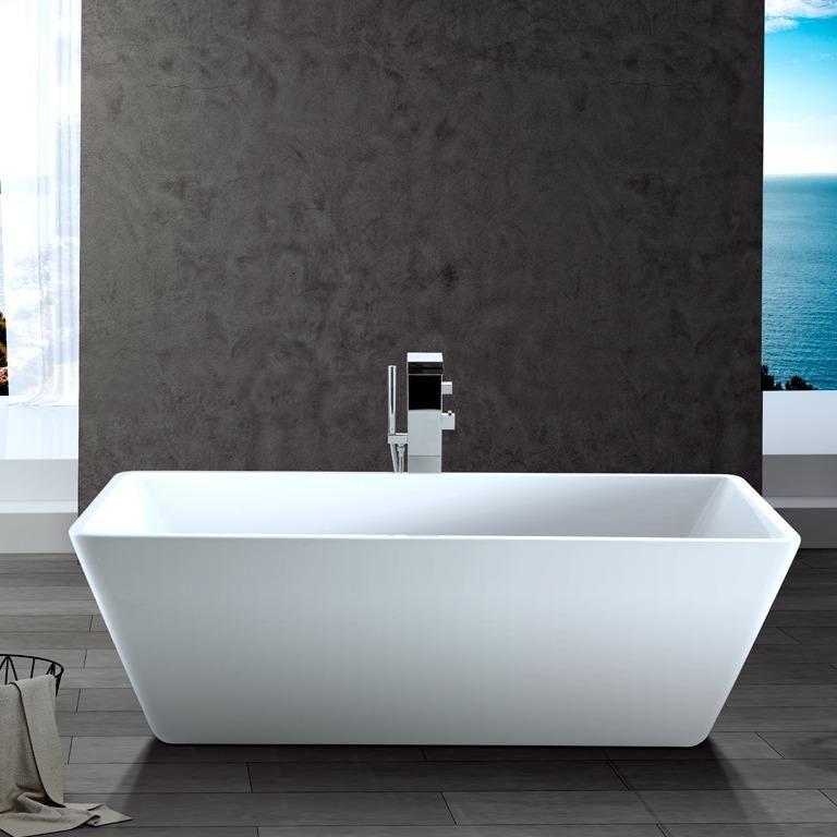 rectangular freestanding soaking tub. 64  Fishers Acrylic Rectangular Freestanding Tub Magnus Home Products