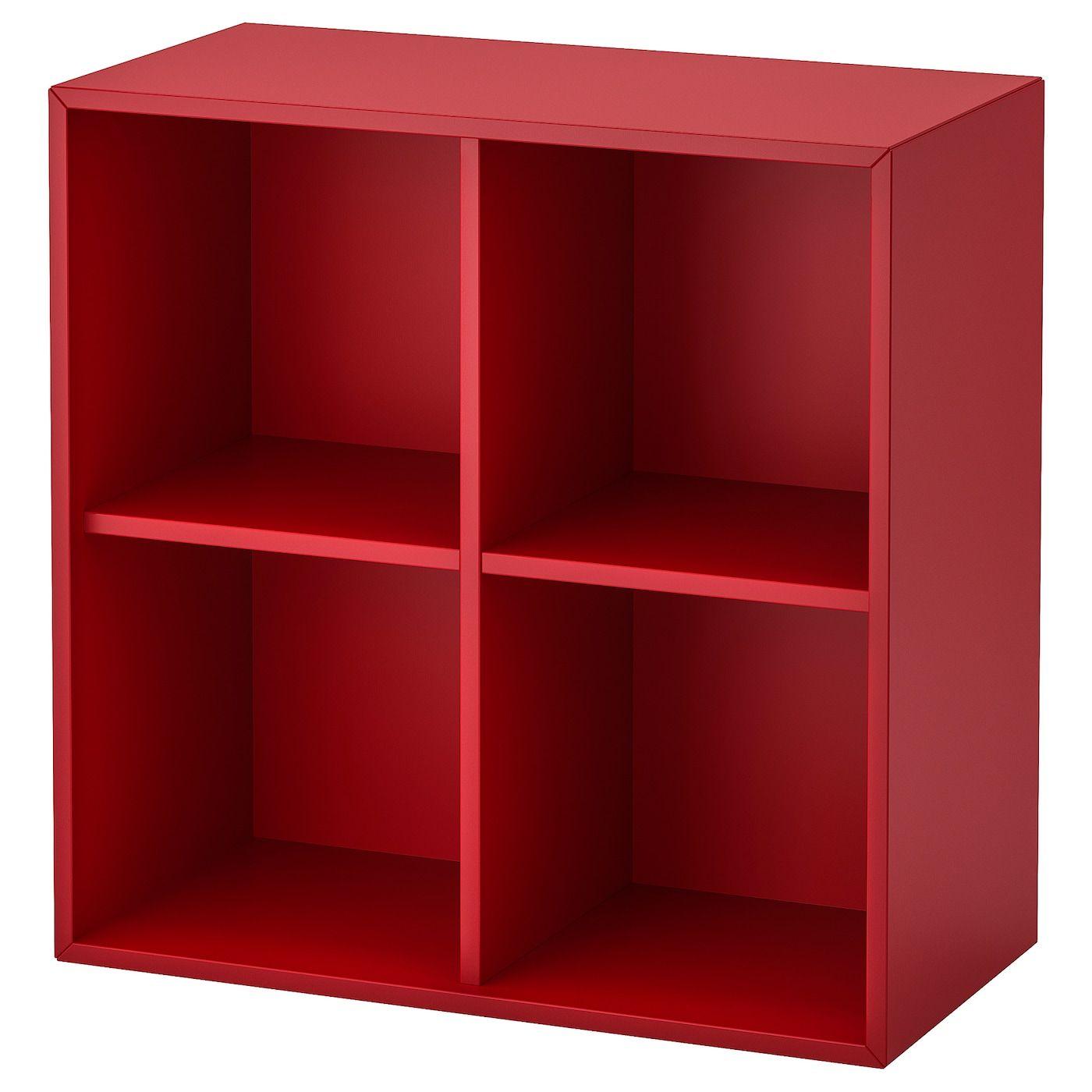 Eket Regalelement 4 Facher Wandmontiert Rot Ikea Osterreich