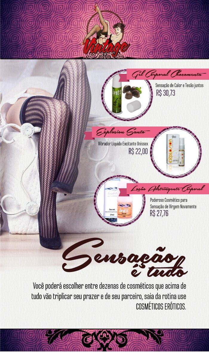 Sensação é tudo! Ouse com esses cosméticos especiais. Na Vintage Sex Shop, sempre temos novidades e facilidades, conheça nossa loja... www.vintagesexshop.com.br  #sexualidade #excitação #desejo #sedução #prazer