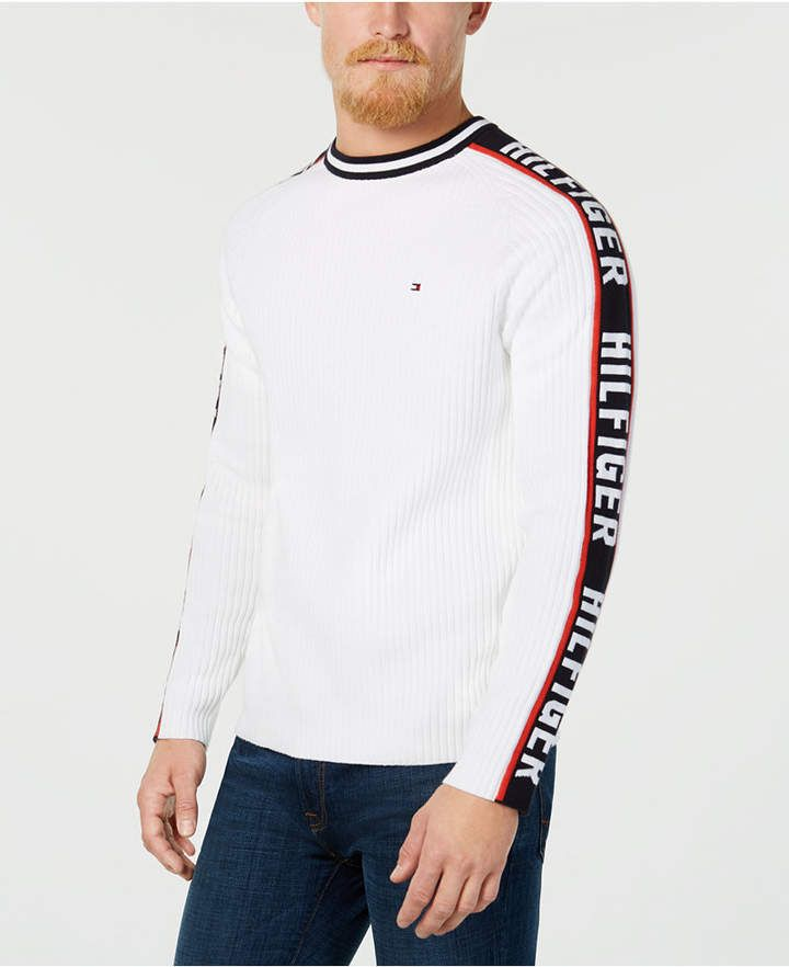 86294efc0 Shop Tommy Hilfiger Men's Winter Logo Sweater, Created for Macy's online at  Macys.com. A warm and cozy layer when the weather turns cold, this crewneck  ...