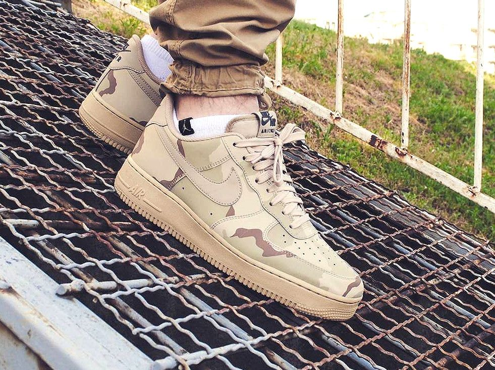 6bf17cd28480 NIKE AIR FORCE 1 LOW 07 LV8 DESERT CAMO OLIVE 718152 204