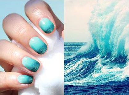 Ocean Nail Designs Summer nail art ocean waves - Ocean Nail Designs Summer Nail Art Ocean Waves Nail Art & Polish