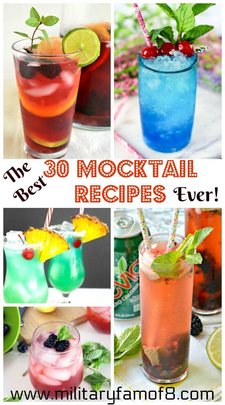 The Best 30 Mocktail Recipes Ever Mocktail Recipe Mocktails Non Alcoholic Drinks
