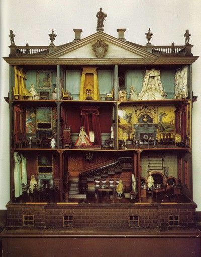 Dollhouse - antique English - circa 1735-1740.  At Nostell Priory in West Yorkshire, UK. Supposedly Thomas Chippendale worked on the furniture.
