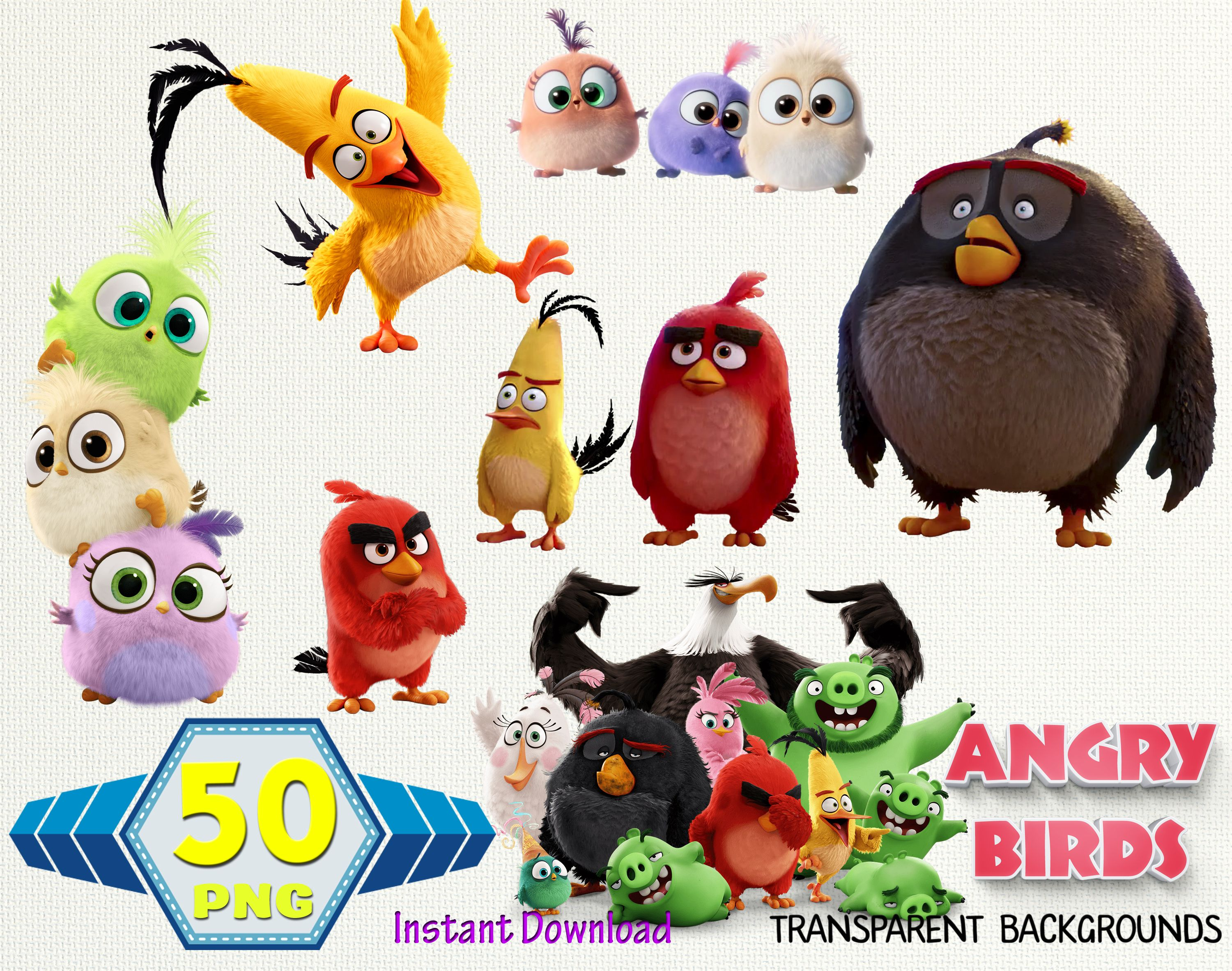 Angry Birds Clipart Angry Birds Images Angry Birds Png Etsy In 2021 Bird Clipart Angry Bird Pictures Clip Art