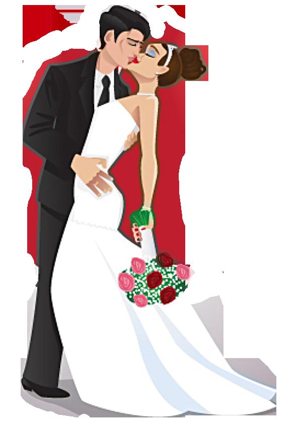 Свадьба. Жених и невеста. Векторный клипарт | Жених и ...