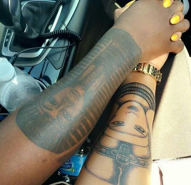 Unique Black Couple Tattoos