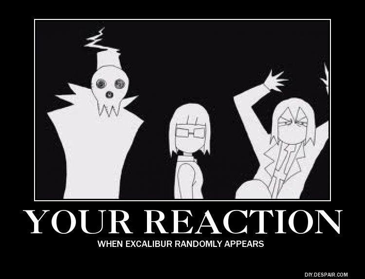 Soul Eater Excalibur Reaction Poster By Xxshinigamigirlxx On