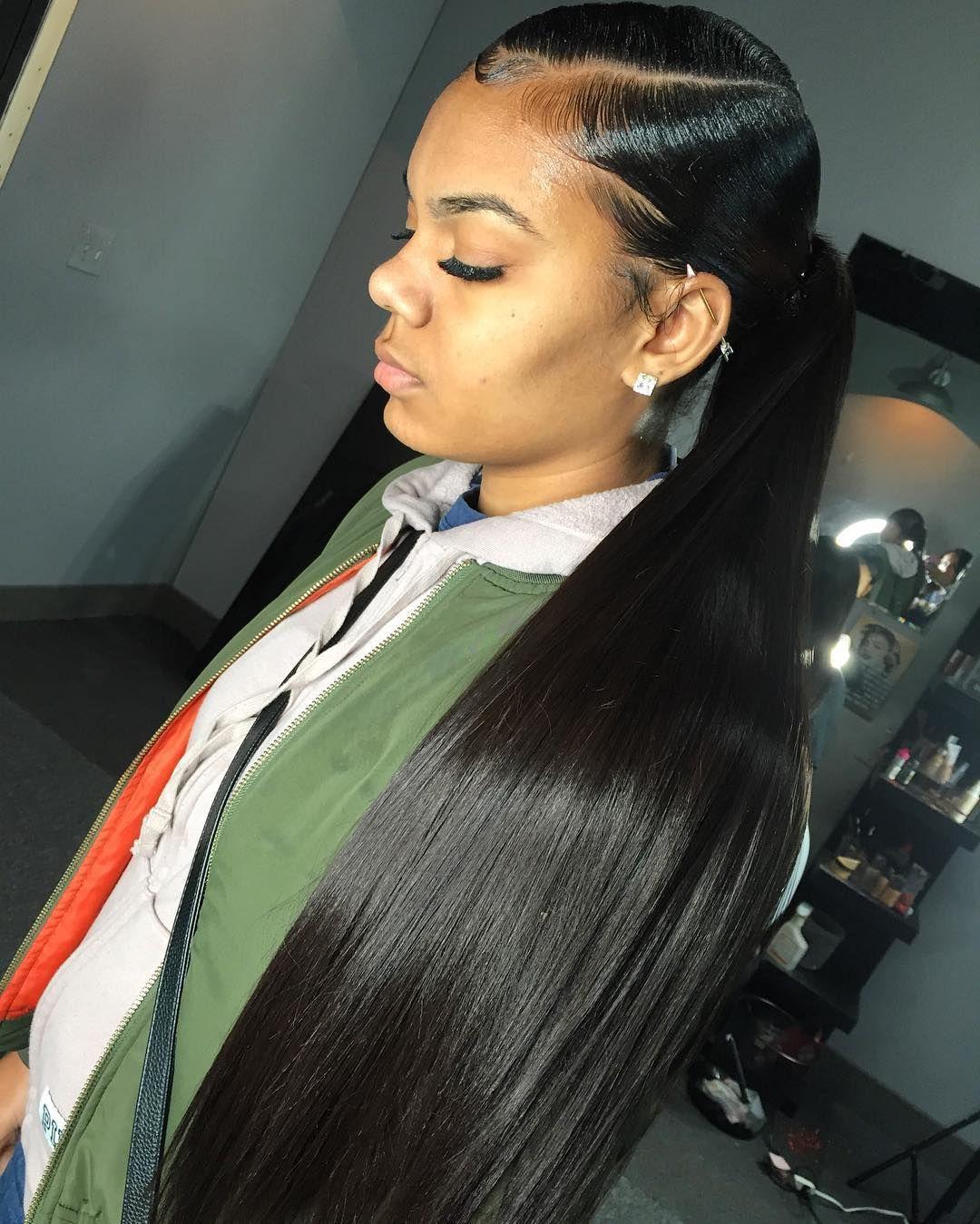 Follow Shesoboujie For More Poppin Boujie Pins Sleek Ponytail Hairstyles Sleek Ponytail Hair Styles