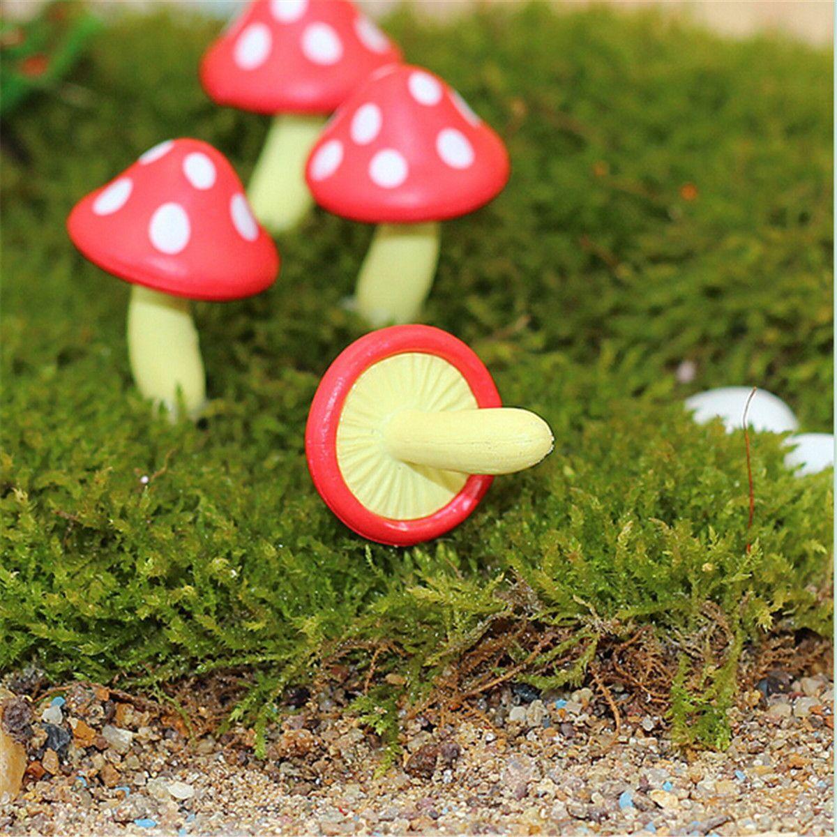 Micro Mushroom Ornament Potted Plant Landscape Garden DIY Decor ...