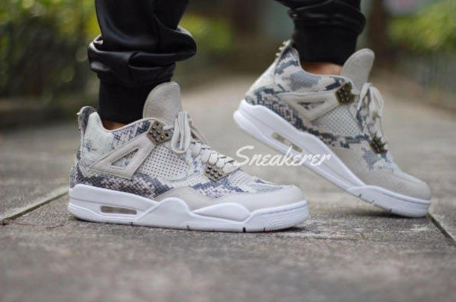 a21aa5ffd09f76 On Feet Photos of the Air Jordan 4 Premium  Snakeskin  sneakerfiles.com air- jordan-4-p…