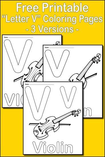 Letter V Alphabet Coloring Pages 3 Printable Versions Alphabet Coloring Pages Alphabet Coloring V Alphabet
