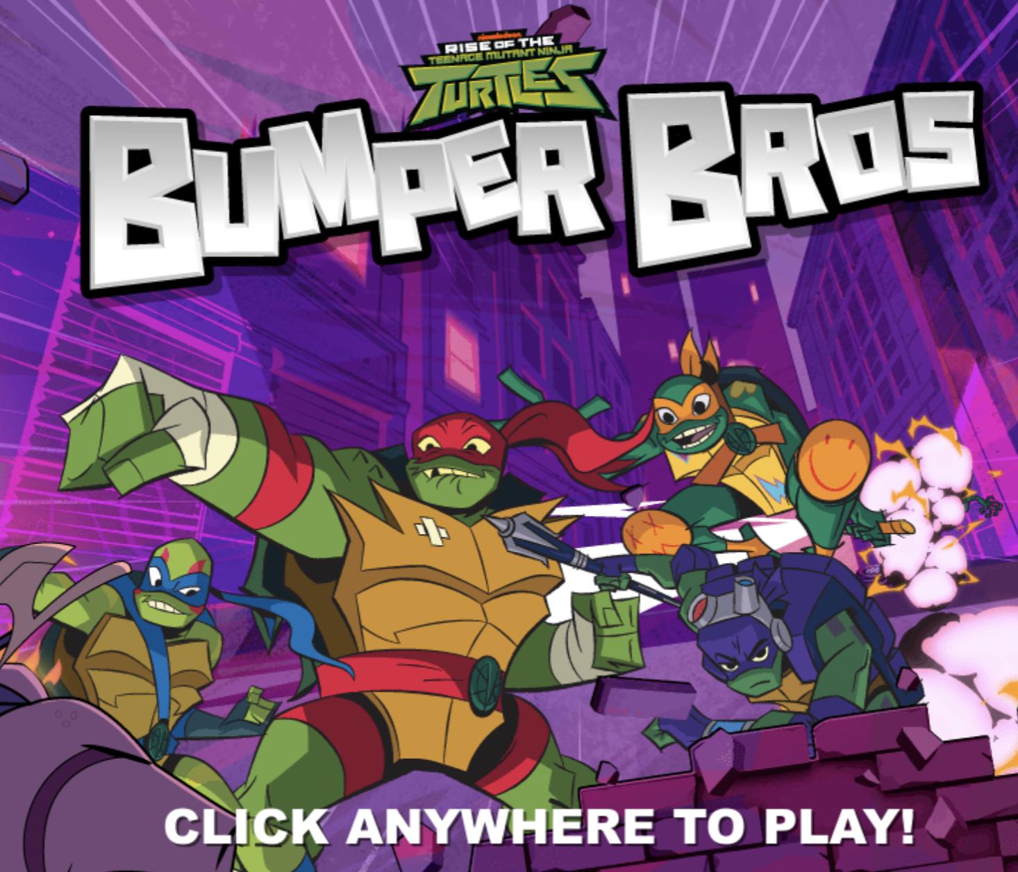Rise Of The Teenage Mutant Ninja Turtles Bumper Bros Game Teenage Mutant Ninja Turtles Ninja Turtles Teenage Mutant Ninja
