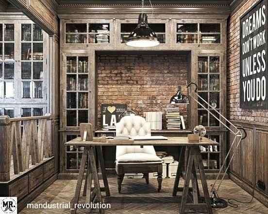 office design home. Vintage Office For A Private Residence Denis Krasikov Design Home