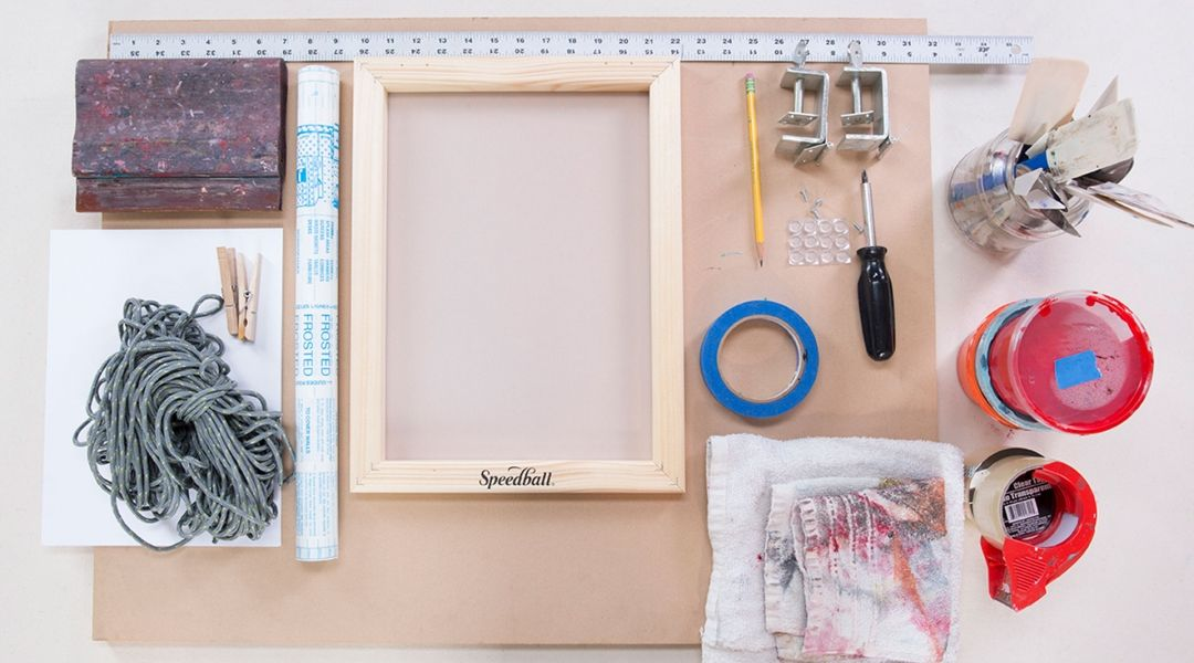 Learn how to set up a home studio for screen printing at