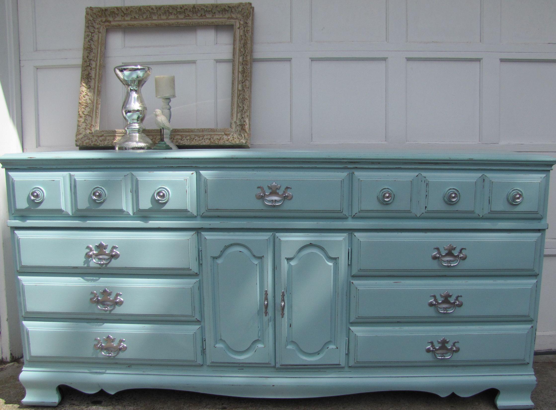 Custom Baby Nursery Soft Mint Green Aqua Blue Vintage Dresser Vintage Dressers Furniture Storage Drawers [ 1651 x 2238 Pixel ]