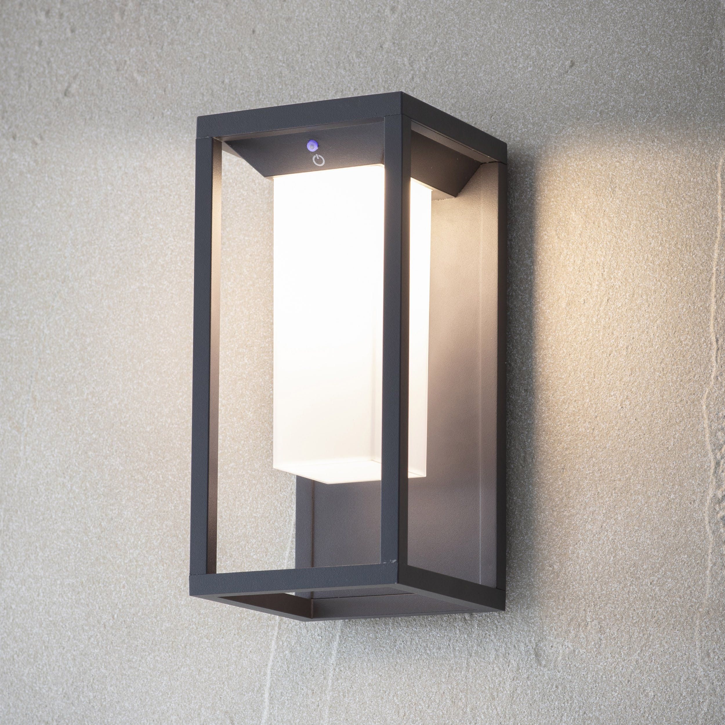 Power Your Home Sustainably With The Northwick Solar Wall Light Produced With A Grey Matt Powder Coate Solar Wall Lights Outdoor Solar Wall Lights Wall Lights