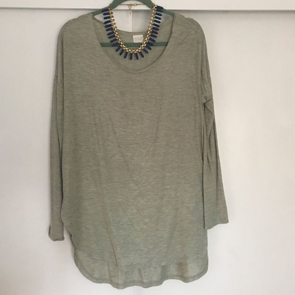 Lightweight Sage Green Long Sleeve NWOT. Super lightweight long sleeve shirt. Size medium. Could easily fit a large. Sage green. Great for spring and warily fall layering piece (necklace not for sale) Tresics Tops Tees - Long Sleeve