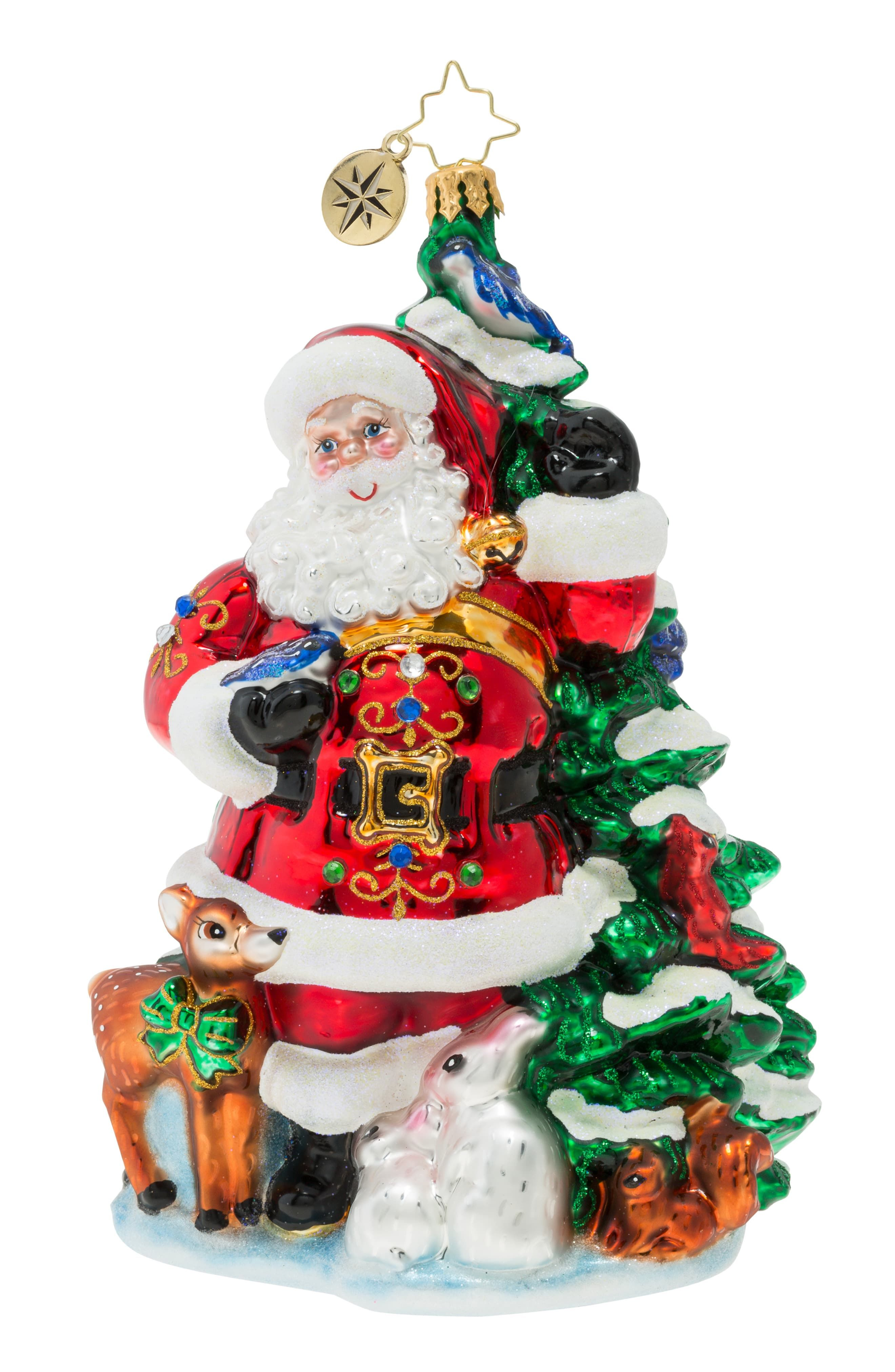 Christopher Radko Santa S Menagerie Of Friends Ornament Size One Size Red Classic Christmas Decorations Christmas Ornaments Christopher Radko Ornaments