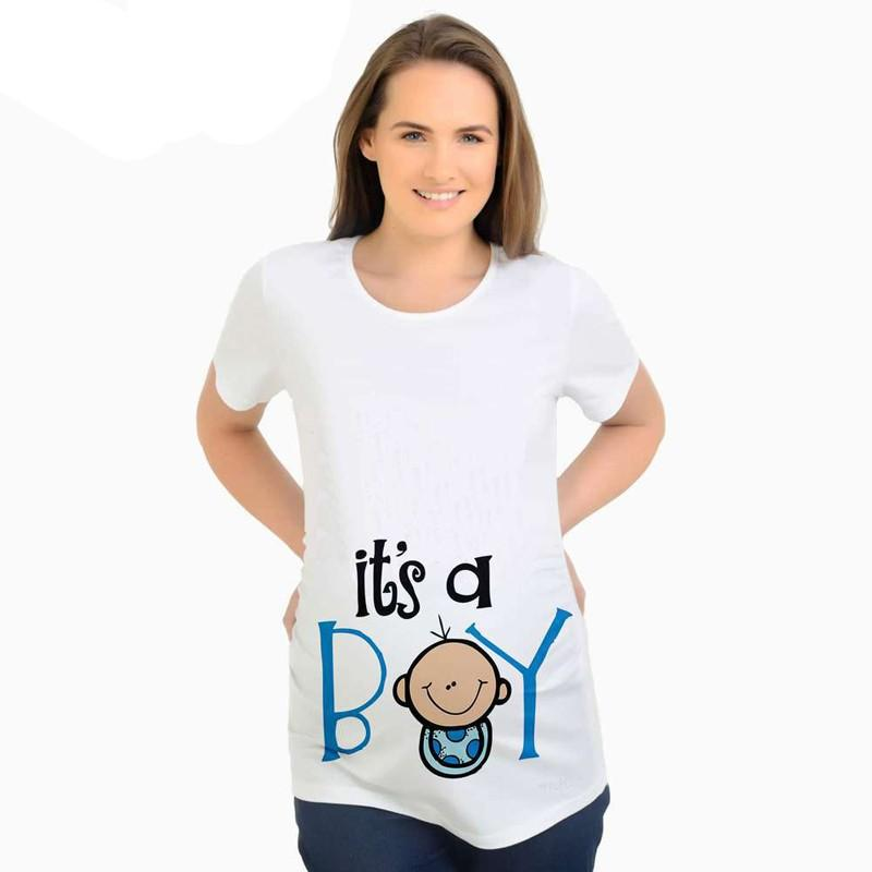 Pregnant Women Summer Casual T-Shirt Tops Letter Print Maternity Blouse Clothes