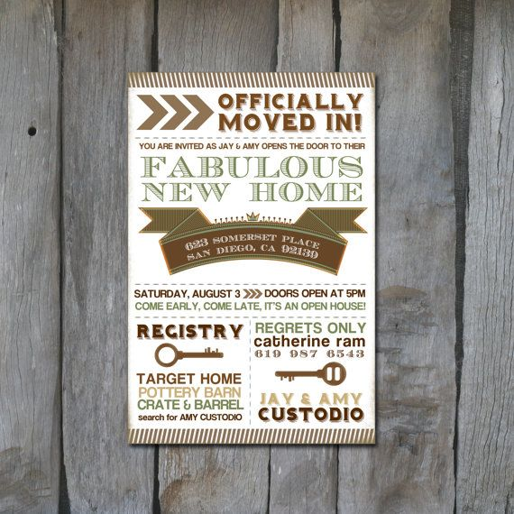 Customizable Modern Housewarming Invitation Digital Design