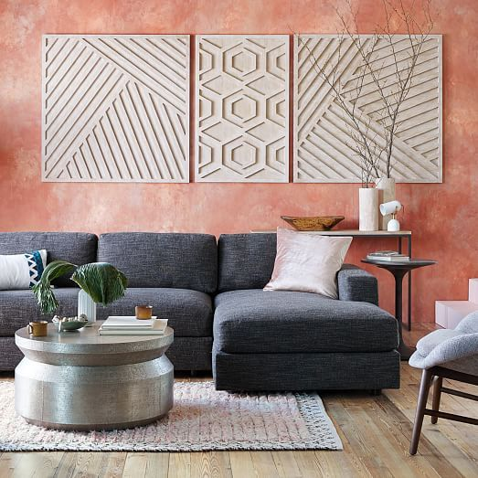 Graphic Wood Wall Art Whitewashed Hexagon In 2019