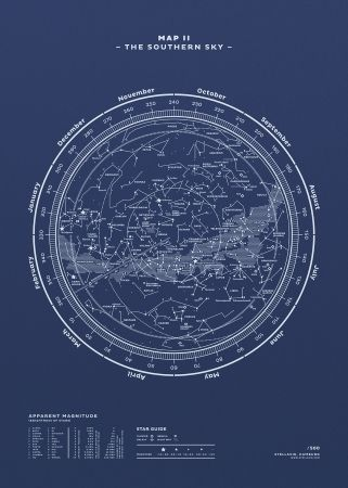 The Southern Sky Map Ii Various Colours Baby In 2019