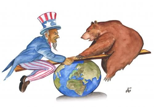 Image result for USSR AND USA CARTOON
