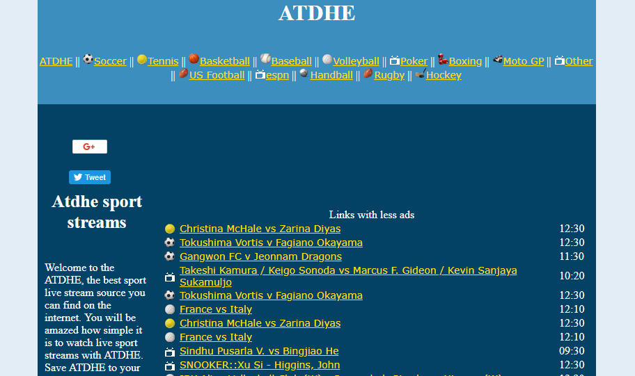 Atdhe To Wiziwig Alternative Site Football Streaming Live Football Match Sports Tournaments