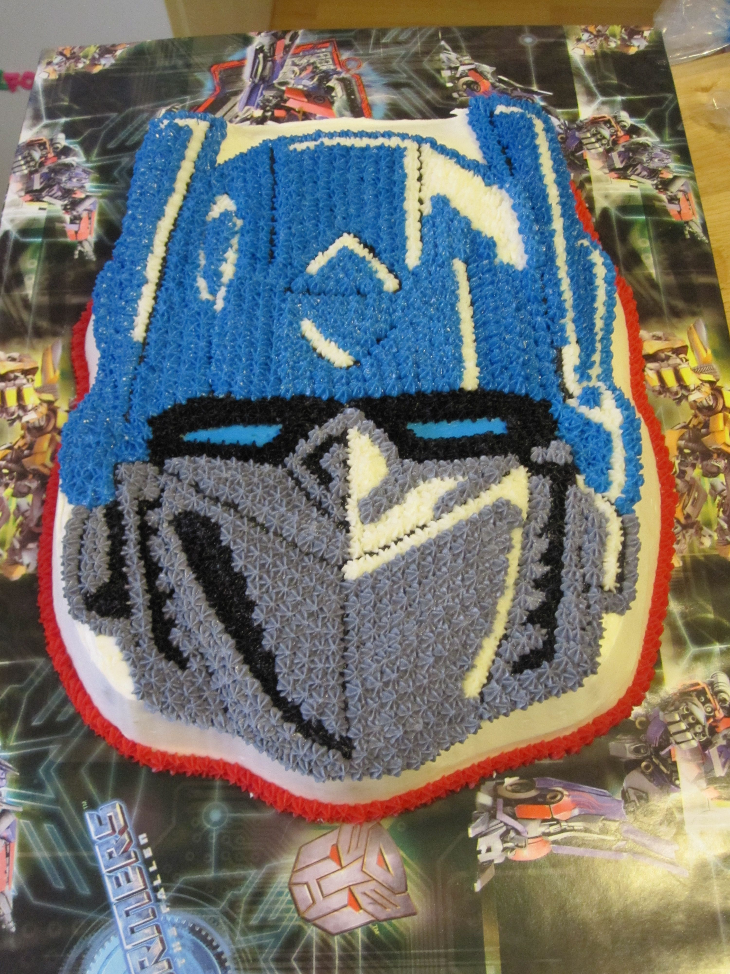 Optimus Prime Transformer Cake Wilton Pan