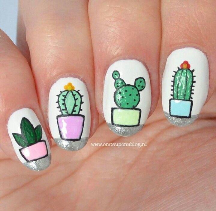 Cactus Nails So Cute Toe Nail Art Luxury Nails Nail Art Summer
