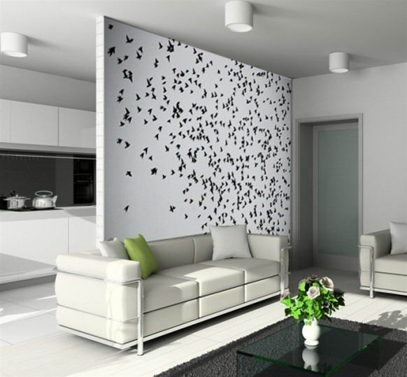 wall designs beautiful artistic flying birds wall decor customized wall decals and wall designs for - Artistic Wall Design