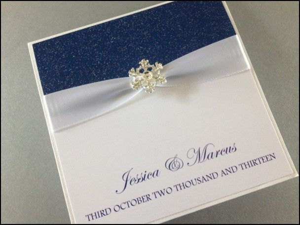 Wedding Invitations Snowflake Theme