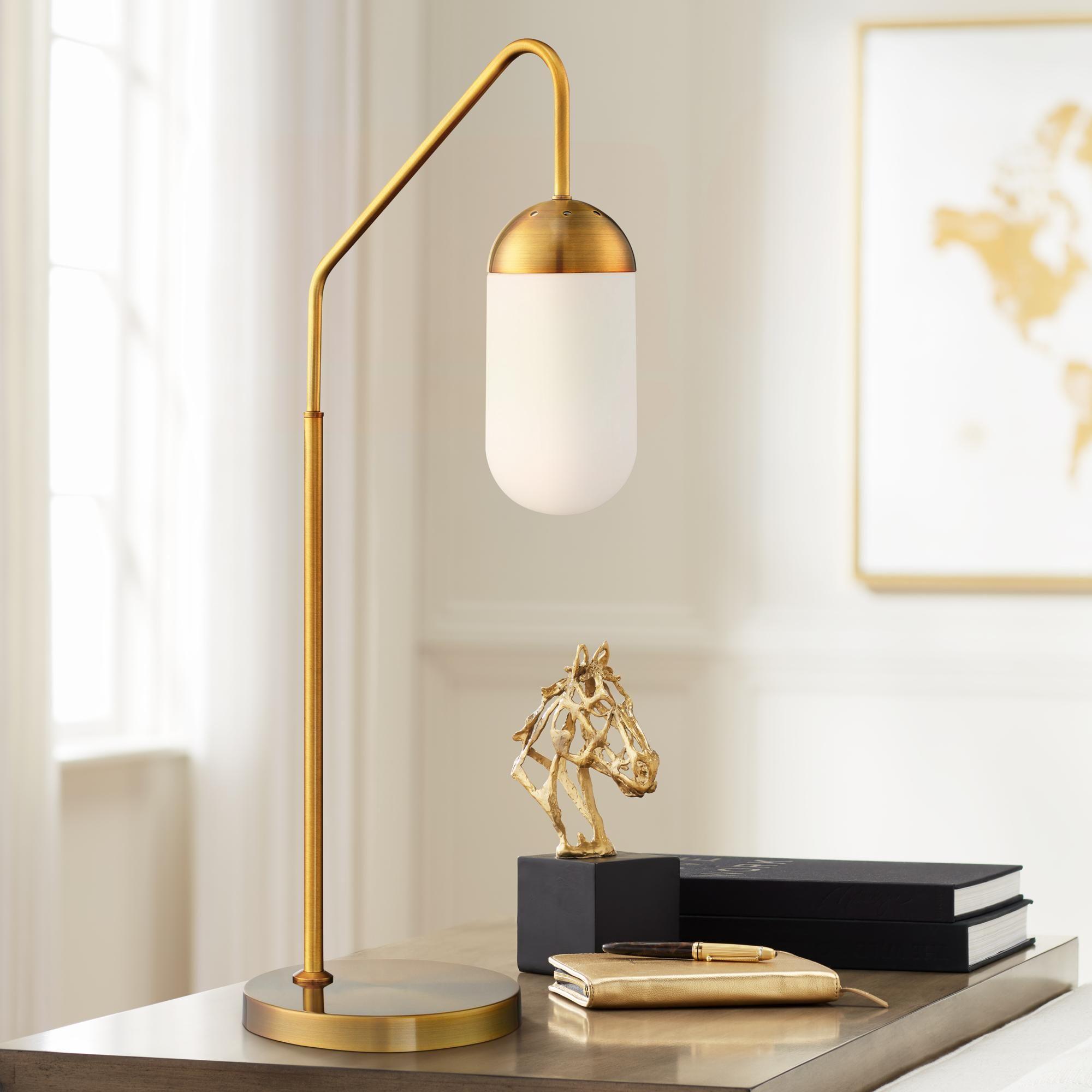 Desk Lamps Lite Source Firefly Antique Brass Downbridge Desk Lamp In 2020 Desk Lamp Desk Lamp Design Retro Desk Lamp