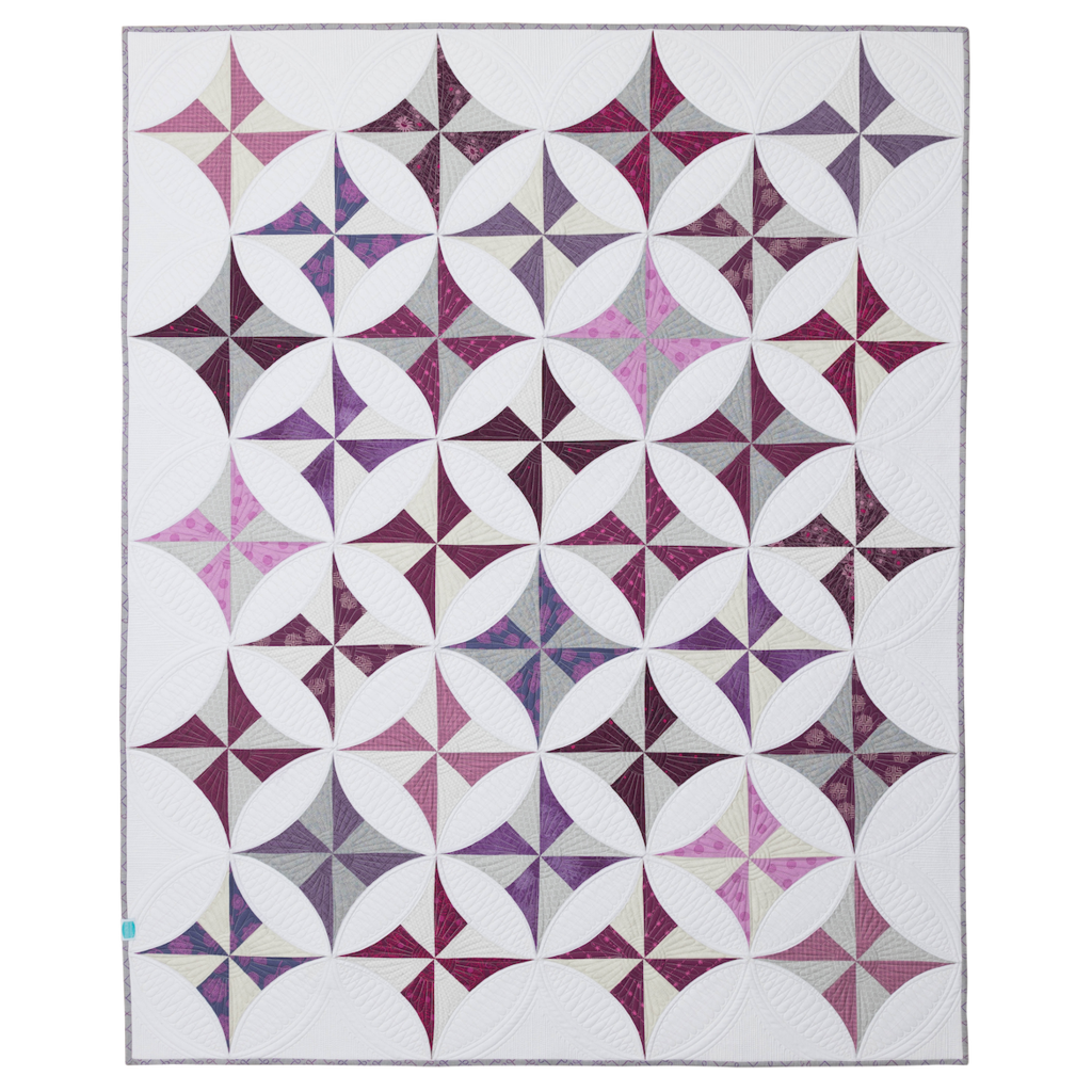 "New Pieced Quilt Pattern  LATTICE REVIVAL Shown 51/"" x 64/"""