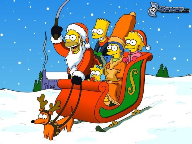 The Simpsons Christmas Snow Sled In 2019 The Simpsons