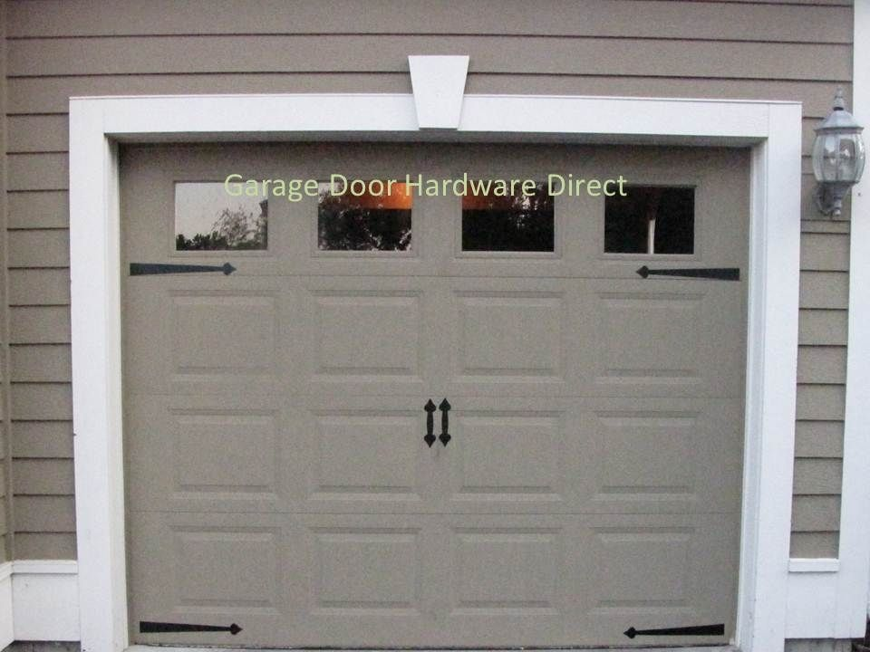 Decorative carriage house garage door hardware direct kits for Faux carriage garage door