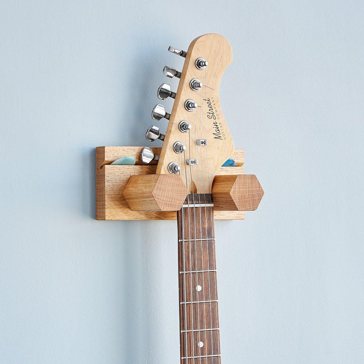 Guitar & Pick Holder Wooden Instrument Stand in 2020