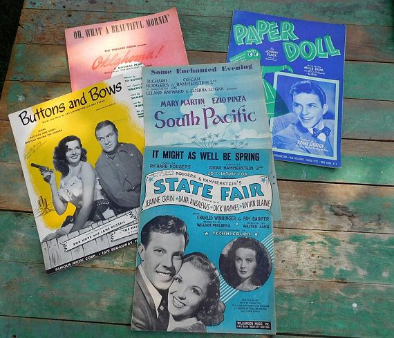 Vintage sheet music-Broadway-Musicals-Bob Hope-Jane