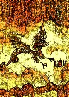 "Griffin Over Chryse  1971  11"" x 9"""
