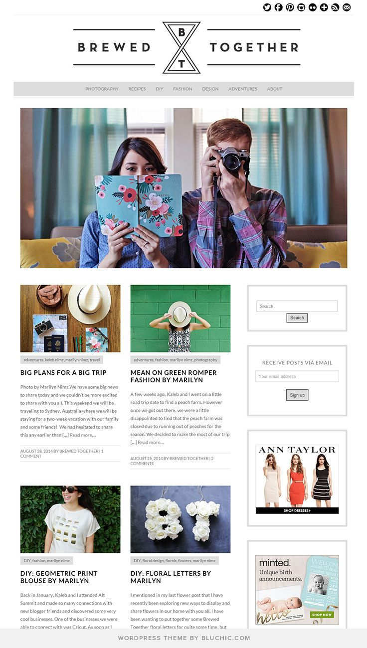 Use Isabelle Theme WordPress. Shop at http//www.bluchic