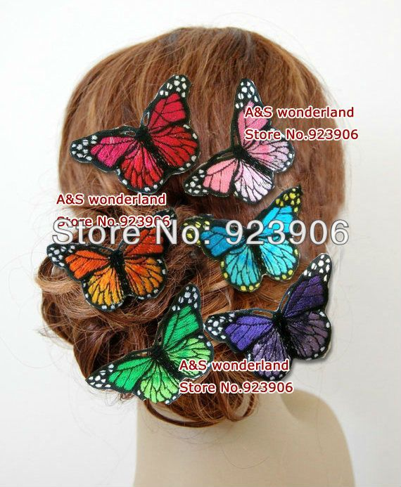 romantic rainbow embroidery butterfly Headpiece bride Fascinator  Bridesmaids Fascinator ocean  with crystal DS36-in Hair Accessories from Women's Clothing & Accessories on Aliexpress.com | Alibaba Group