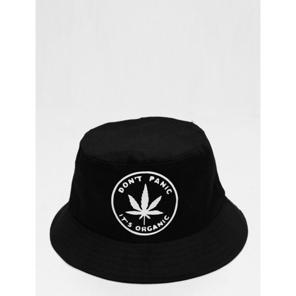e77afb7686e Dont Panic its Organic Bucket Hat KYC Vintage ( 8) ❤ liked on Polyvore  featuring accessories and hats