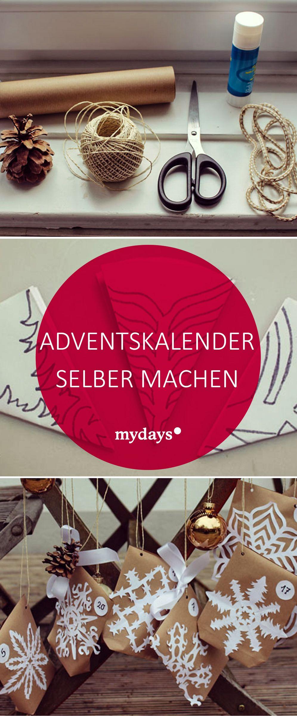 DIY Adventskalender basteln 24 kreative Türchen