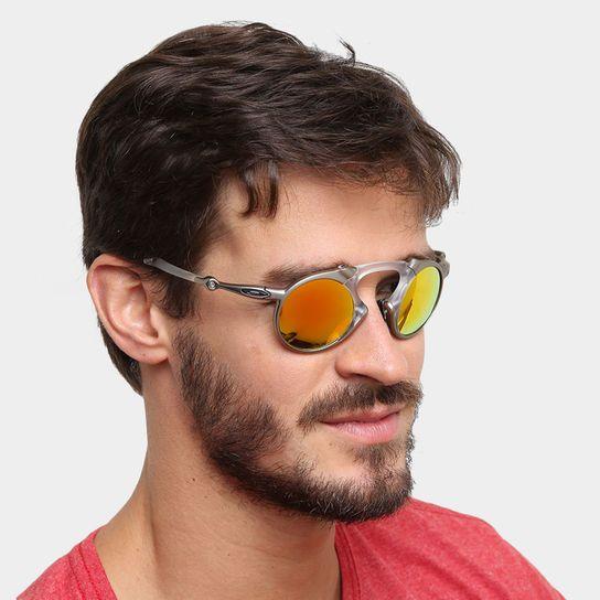 7a6daf612da44 Óculos Oakley Madman - Iridium Polarizado - Prata+Amarelo   man k ...