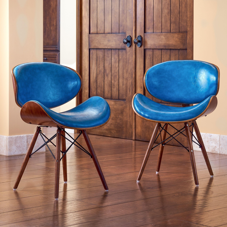 Corvus Madonna Mid Century Teal Accent Chair 1 Chair Blue Faux