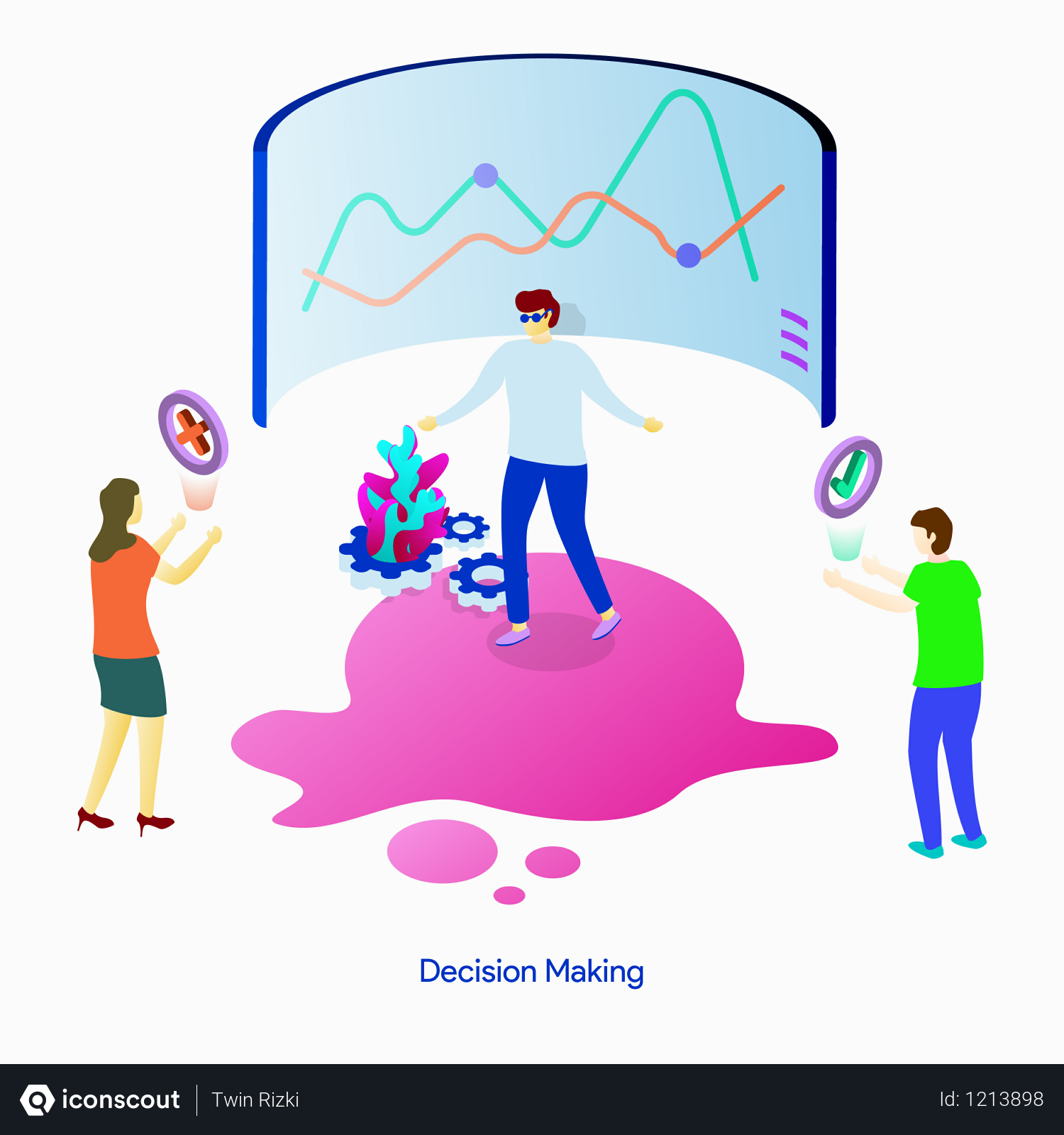Free Decision Making Illustration In