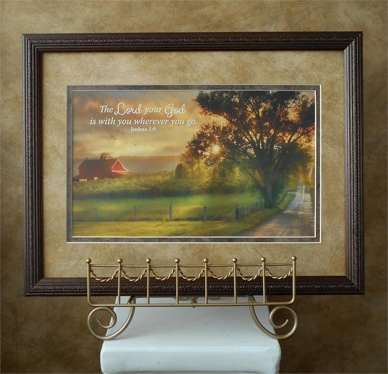 Farm with barn framed art as memorial gift a lovely